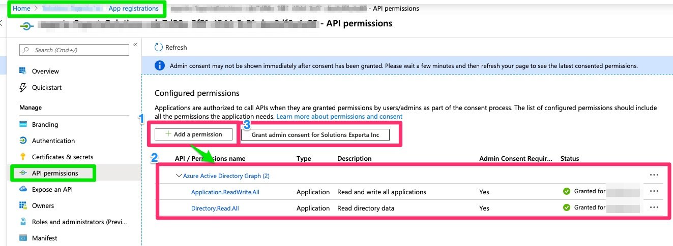 AzureADAppRegistrationApiPermissions