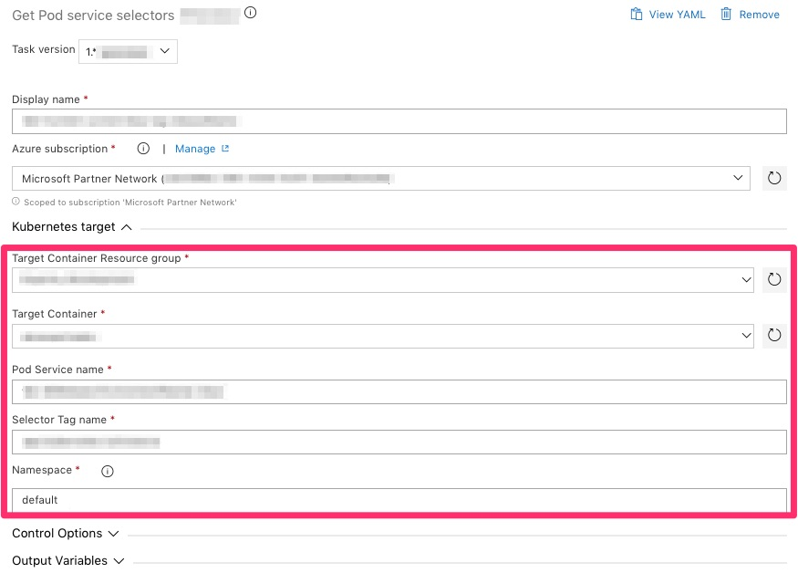 KubectlGetServiceSelector_Task_inputs